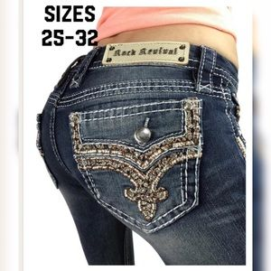 """Rock Revival Low Rise Skinny Jeans 32"""" L NO OFFERS"""